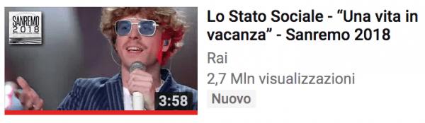 Lo stato sociale secondi su youtube