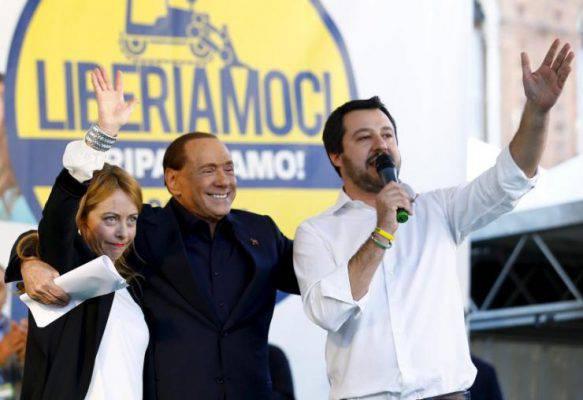 Berlusconi Salvini Centro Destra
