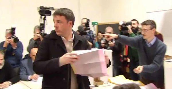 Affluenza Elezioni 2018 Renzi ha votato