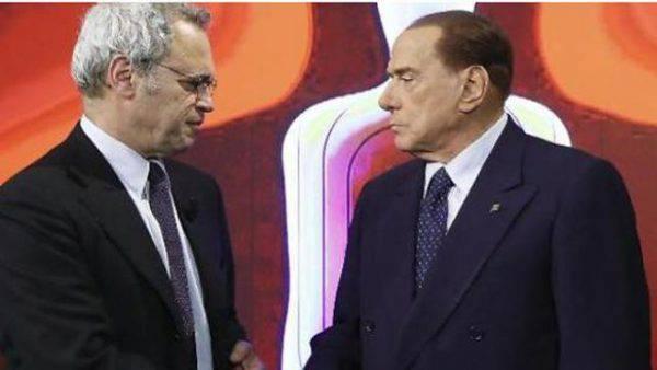 Mentana-Berlusconi, scontro in diretta: