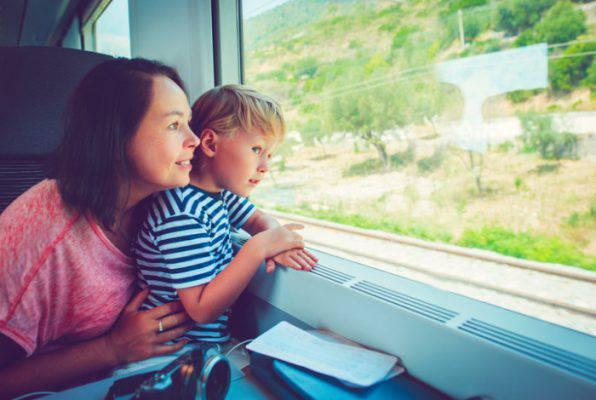viaggi famiglie sul treno