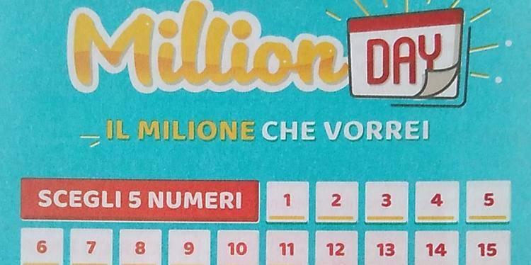 estrazione 16 marzo million day