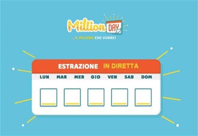 estrazione million day 24 marzo