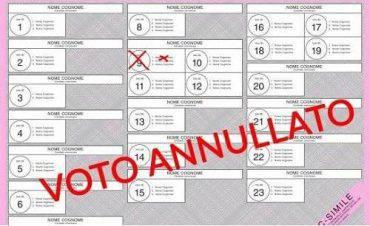 Fac simile scheda elettorale 3