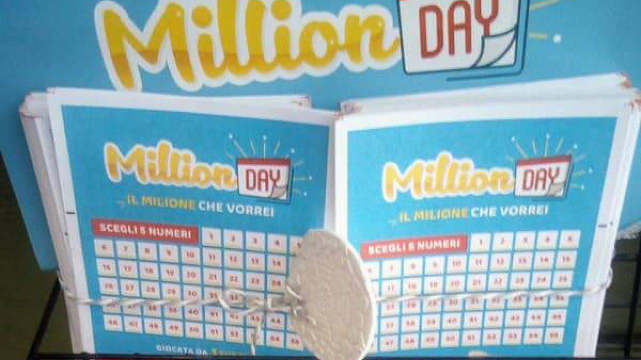 Million Day, estrazioni e risultati: i nuovi milionari