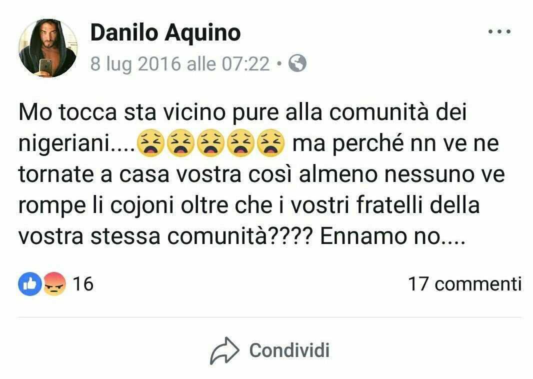 Danilo post razzistiDanilo post razzisti
