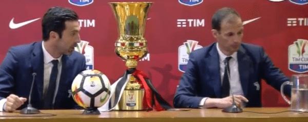 """Coppa Italia, Allegri: """"E' stimolante giocare la finale"""""""