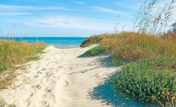 mappa spiagge salento