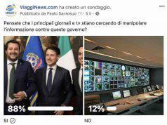 sondaggio viagginews stampa contro governo