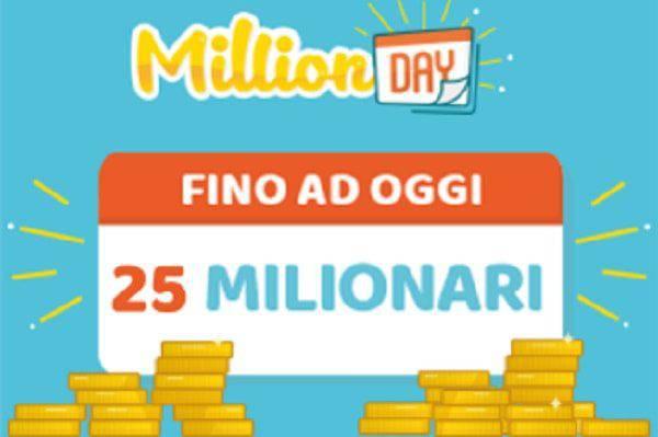 Estrazione Million Day oggi lunedì 30 luglio: DIRETTA risultati