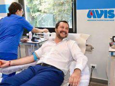 Matteo Salvini sangue
