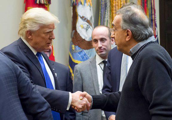 """Trump, l'attestato di stima per Marchionne: """"Tra i più brillanti dopo Henry Ford"""""""