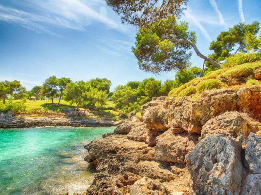 spiaggia di Cala Mitjana