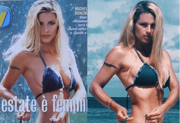 Michelle Hunziker hot su Instagram: la posa ed il fisico sono gli stessi di 20 anni fa