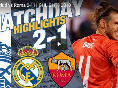 Real Madrid Roma 2-1 Video Highlights