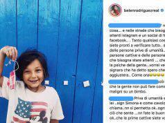 critiche su belen per una foto postata su instagram del figlio santiago