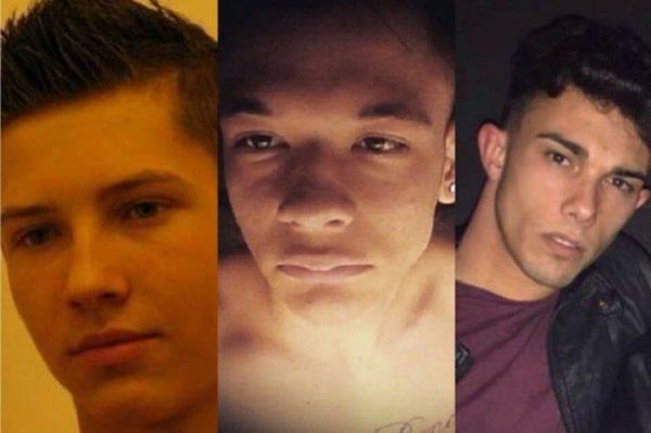 tre giovani vittime