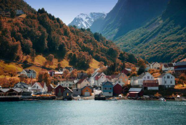villaggio norvegese