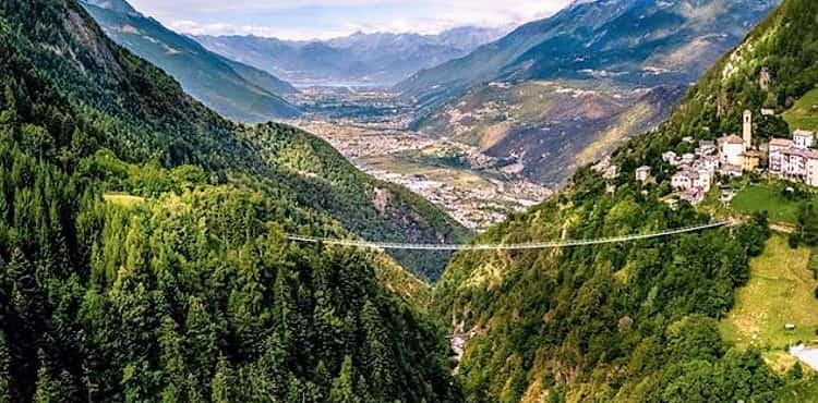 ponte tibetano più alto d'europa