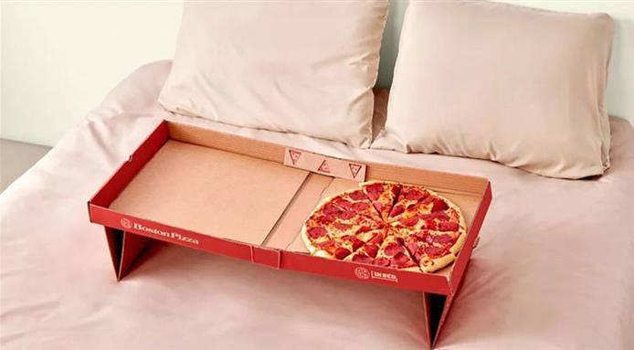 pizza a letto