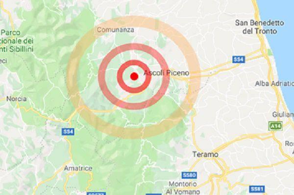 Terremoto nelle Marche oggi pomeriggio, scossa ad Ascoli ...
