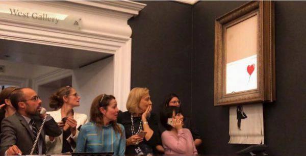 Banksy spiega come ha distrutto il quadro, ma non perché