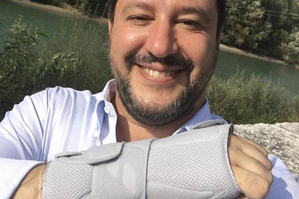matteo salvini incidente