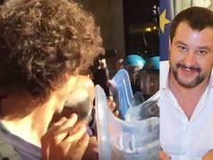 Matteo Salvini studente manganellato