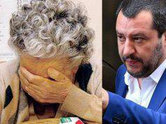 rifugiato abusa pensionata salvini