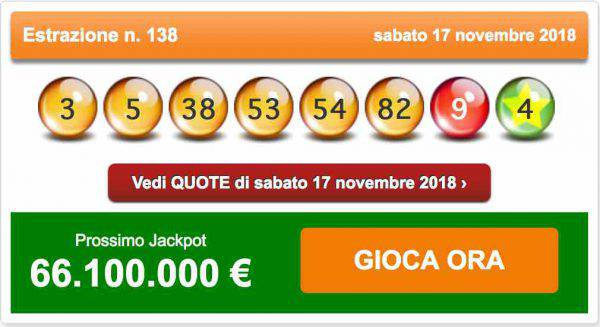 estrazione del lotto 20 novembre 2018