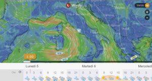 meteo italia 5 6 7 novembre 2018