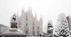 Milano allerta neve