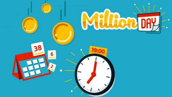 Estrazione million day oggi 22 novembre 2018