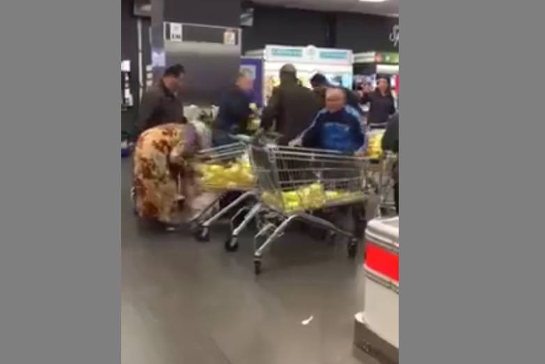 palermo rissa supermercato