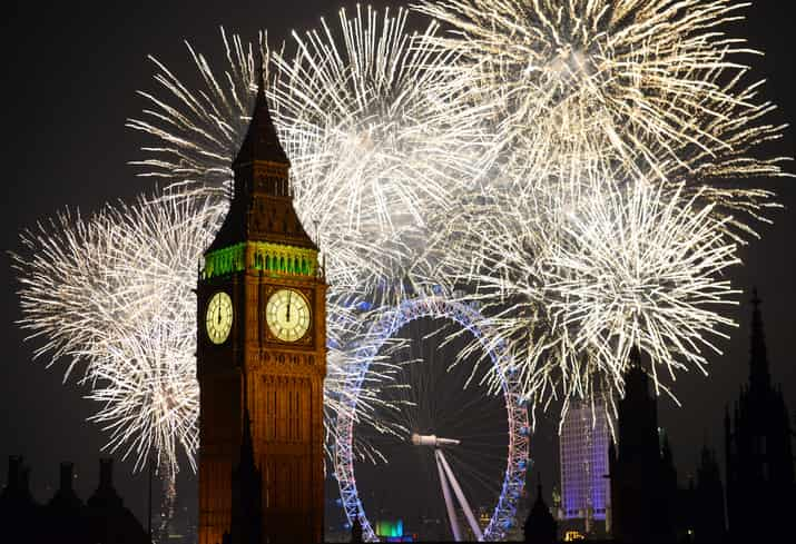 londra fuochi artificio