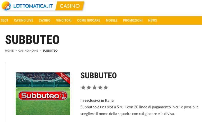 Lottomatica Slot