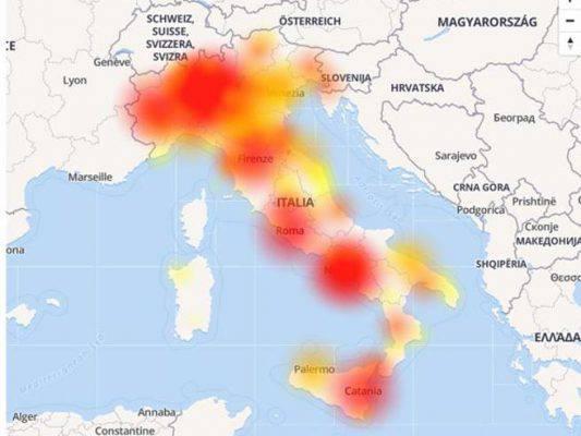 Tim Down in tutta Italia