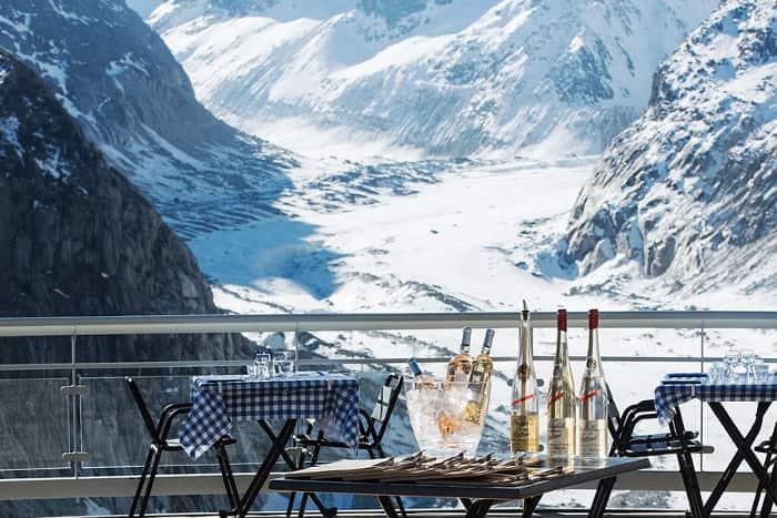 ristorante panoramico monte bianco