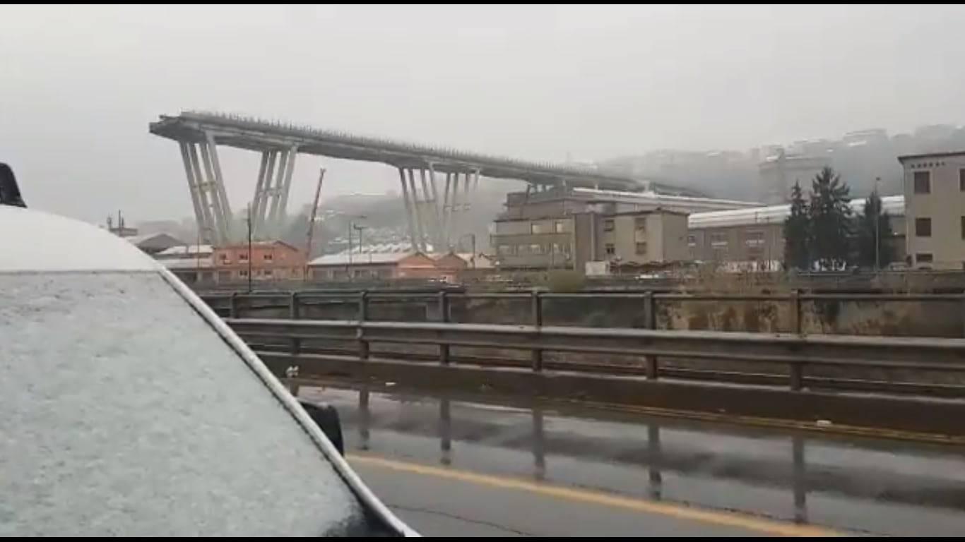 ponte morandi neve emergenza maltempo