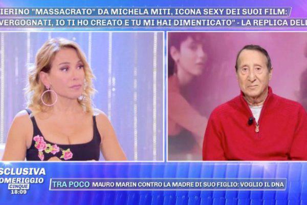 """Alvaro Vitali offeso da Barbara d'Urso: """"Non chiamatelo maestro"""""""