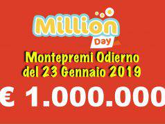 estrazioni million day oggi