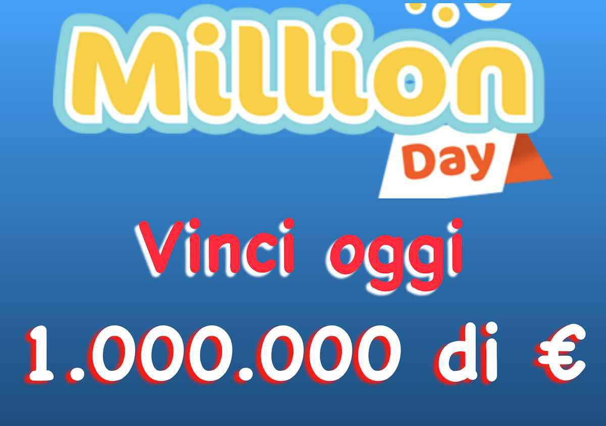 Milionario day estrazione oggi