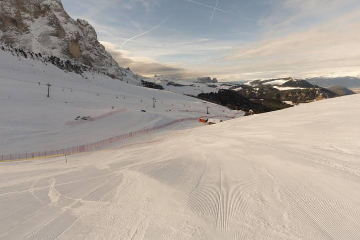 piste da sci alpi