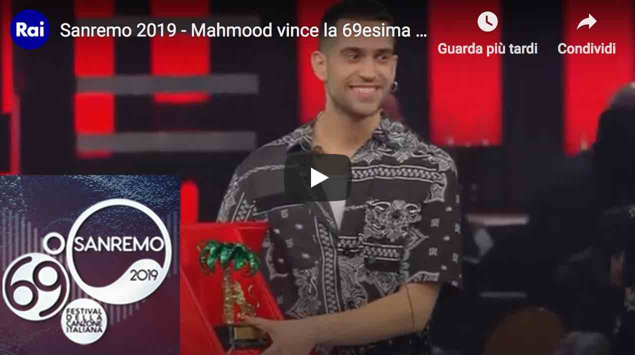 Mahmood Vince La Classifica Del 69° Festival Di Sanremo