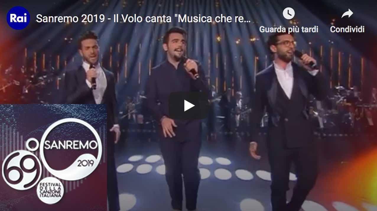 69° Festival Di Sanremo 2019: Il Volo Terzo Classificato