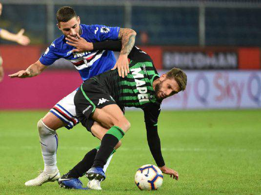 Sassuolo Sampdoria streaming