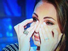 Anna Tatangelo pianto