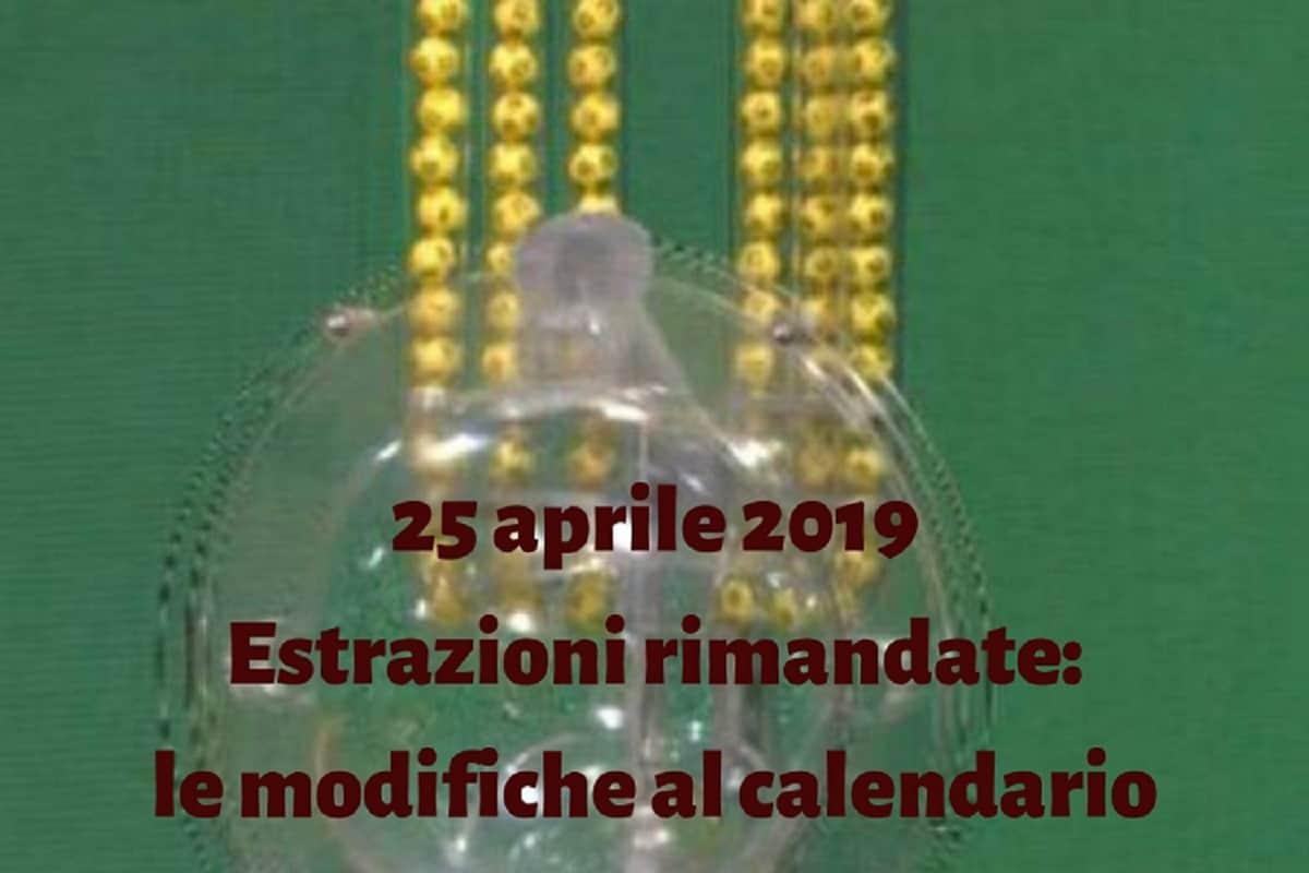 Calendario Estrazioni Superenalotto.Estrazioni Superenalotto Lotto 10 E Lotto 25 Aprile Tutte