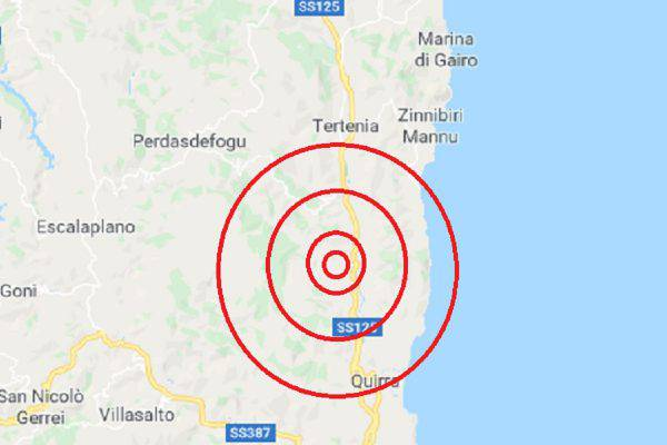 Terremoto Sardegna