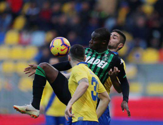 sassuolo frosinone streaming